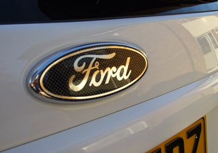 Ford badge on car